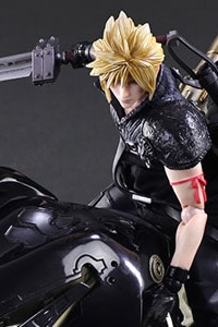 SQUARE ENIX PLAY ARTS KAI Final Fantasy VII ADVENT CHILDREN Cloud Strife & Fenrir Action Figure