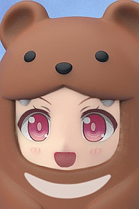 GOOD SMILE COMPANY (GSC) Nendoroid More Kigurumi Face Parts Case Brown Bear (2nd Production Run)